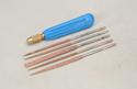 Perma Grit Needle File - Set 5 w/Handle Image