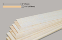 Slec Balsa Sheet 1/32x3x36