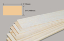Slec Balsa Sheet 3/4x3x36