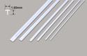 Plastruct Tee Section - 1.60 x 1.60 x 250mm Image