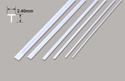 Plastruct Tee Section - 2.40 x 2.40 x 375mm Image