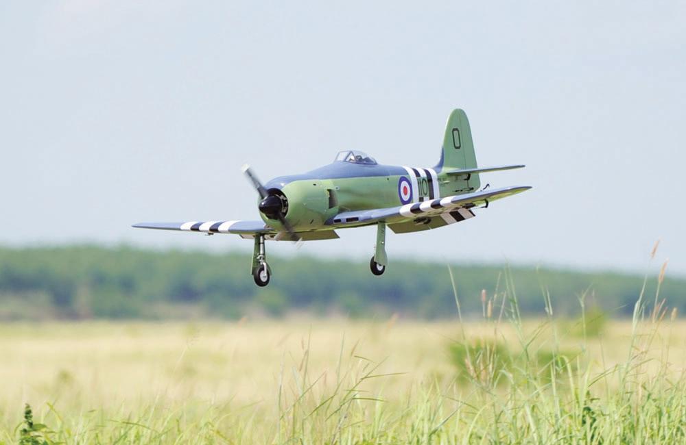 Black Horse Sea Fury 20cc ARTF (A-BH113A) - Ripmax Ltd