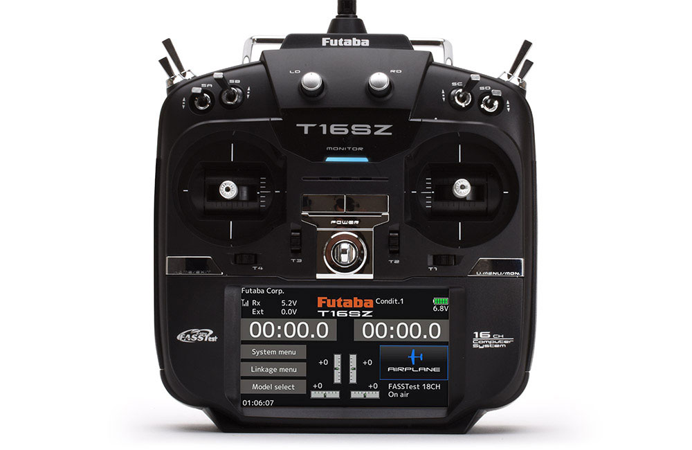 Futaba T16SZ 16-Channel 2 4GHz (Mode 2) Combo with R7008SB